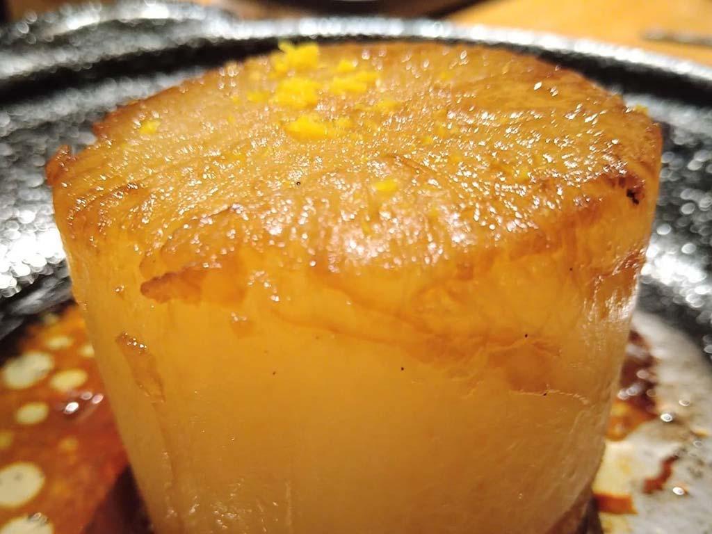 大根のステーキ、柚子の香り